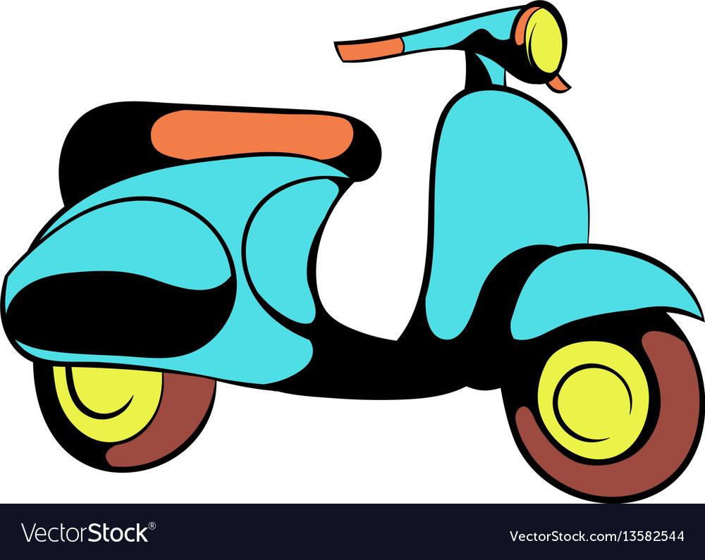 Motorcycle blue icon cartoon vector image