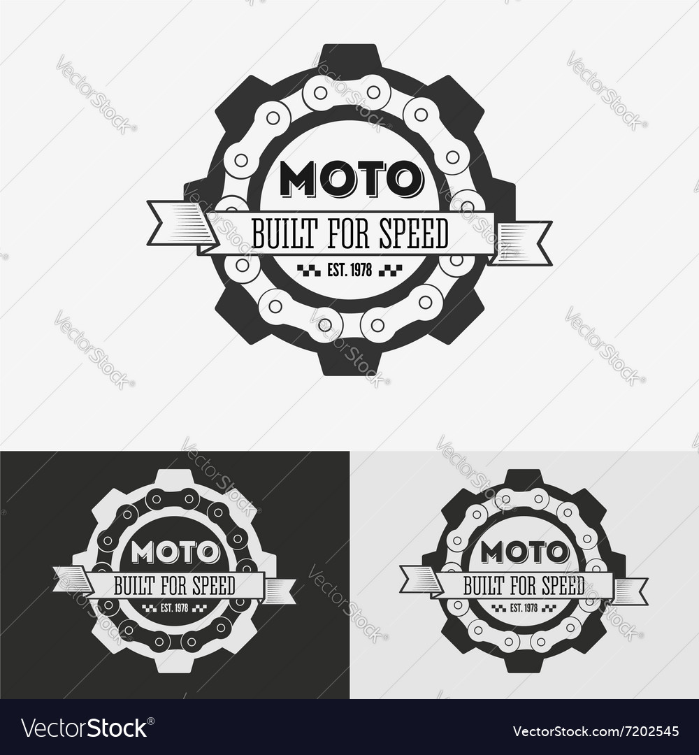 Vintage label with chain vector image