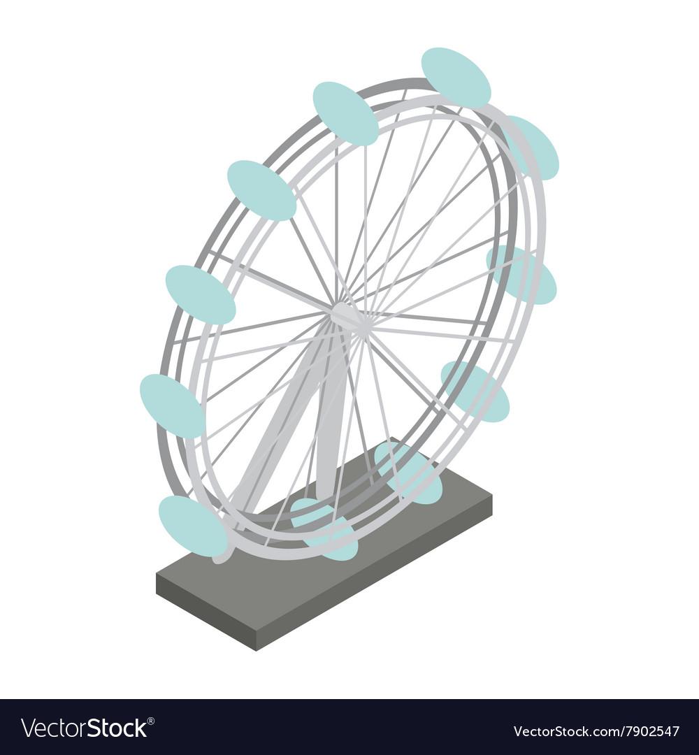 Ferris wheel icon isometric 3d style vector image