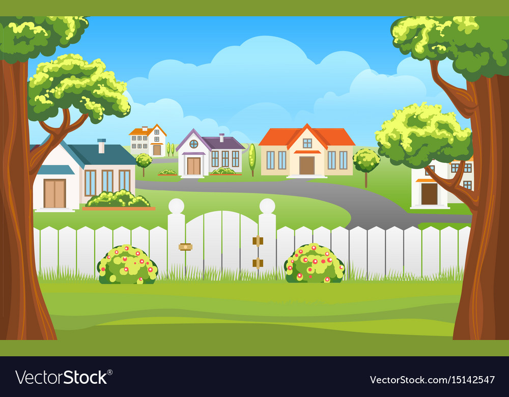 Outdoor backyard background cartoon vector image