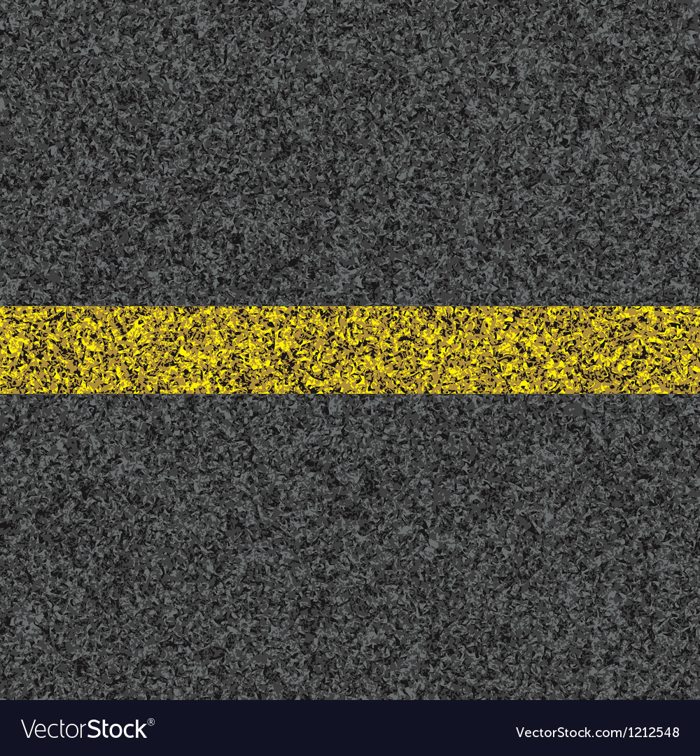 Stripe on asphalt vector image