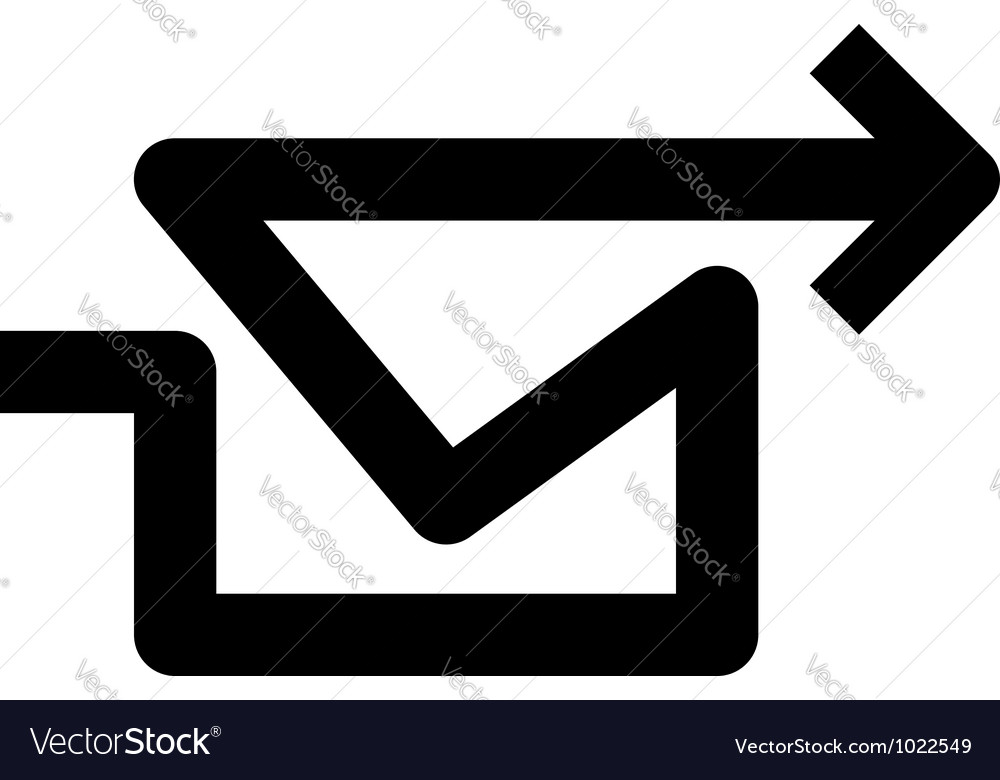 Arrow mail vector image