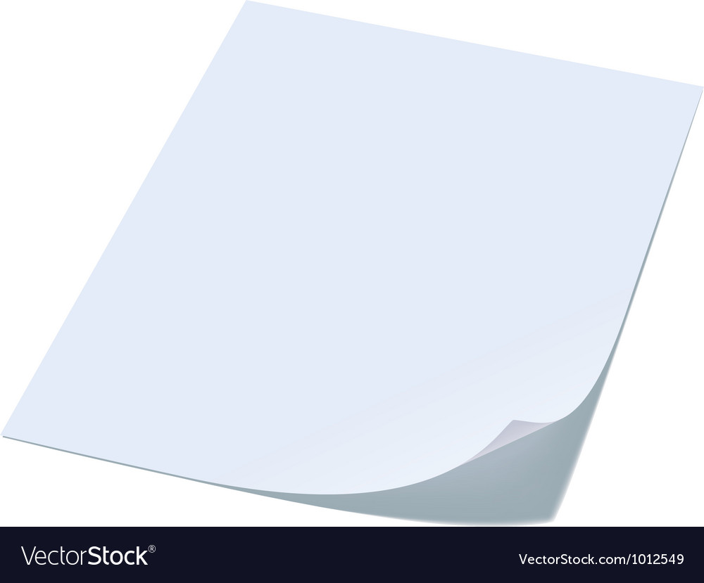 Blank sheet of paper vector image