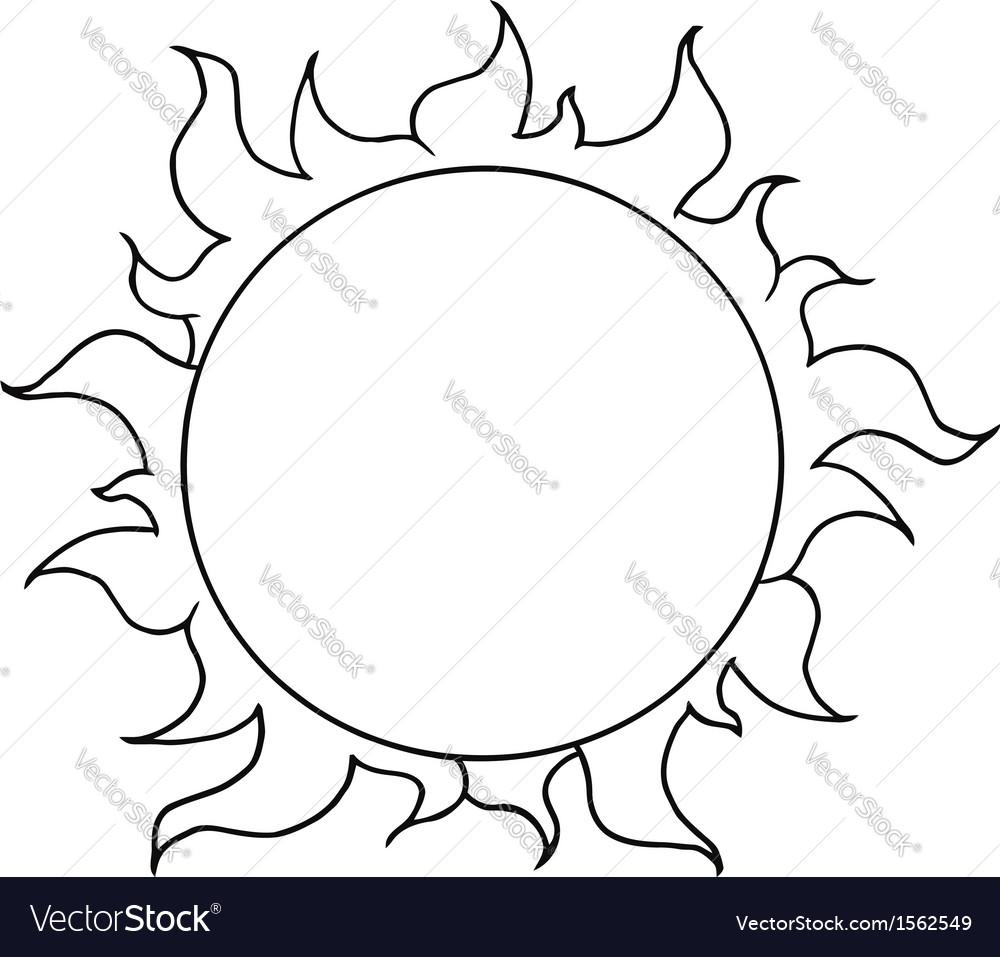 cartoon sun royalty free vector image vectorstock