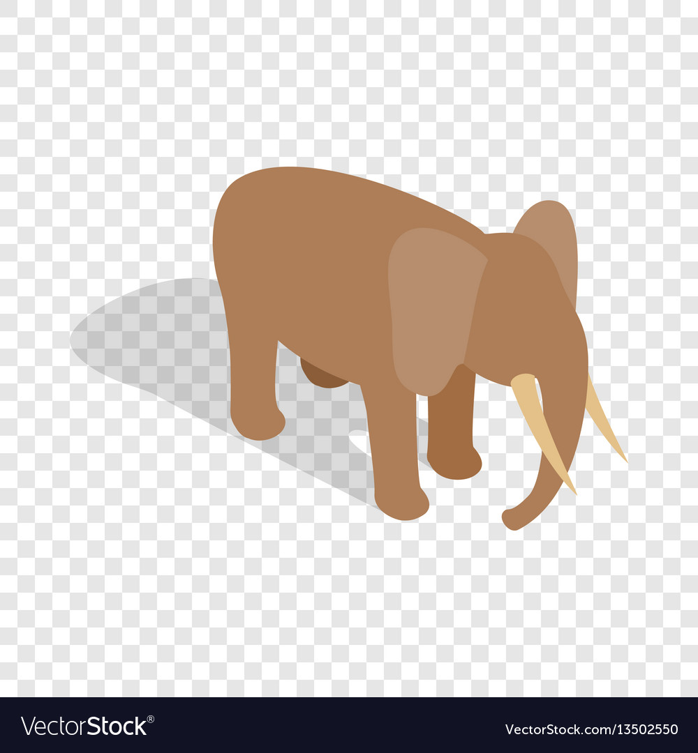 Elephant isometric icon vector image