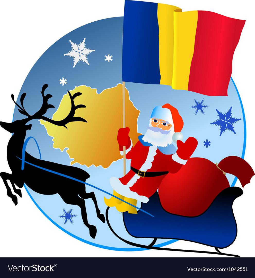 Merry Christmas Romania Royalty Free Vector Image