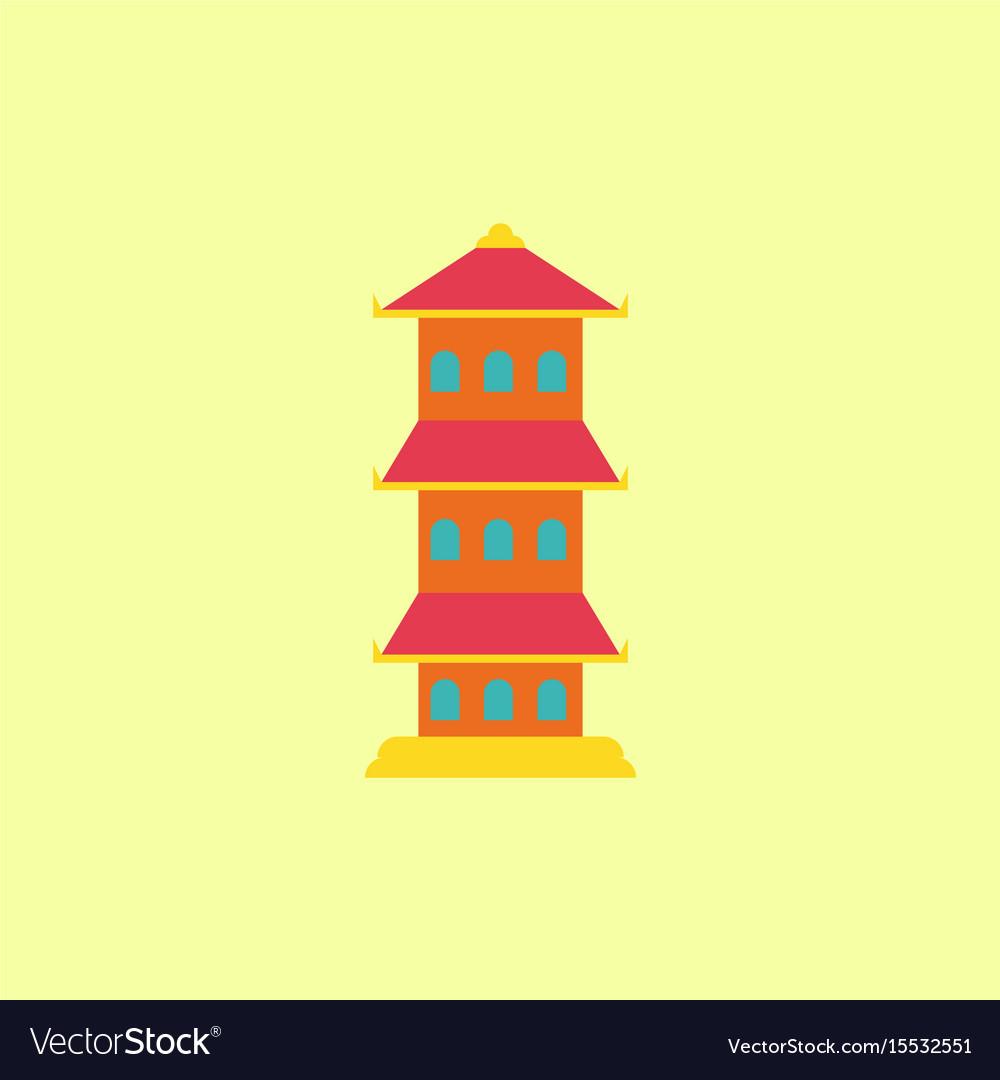 traditional korean house isometric icon