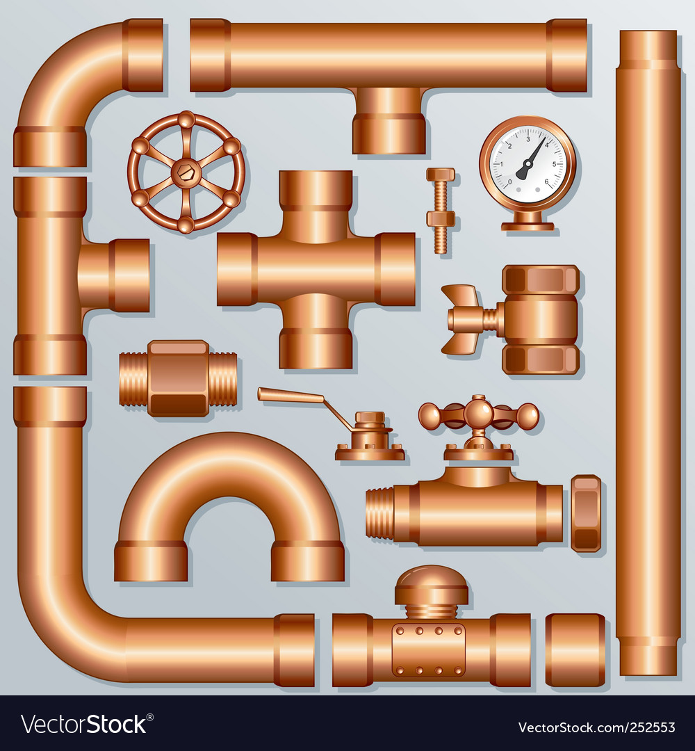 Pipes vector image