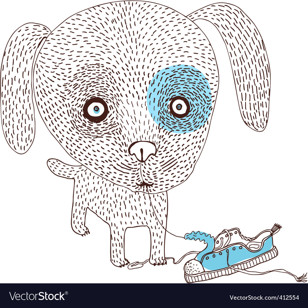 Bad dog vector image