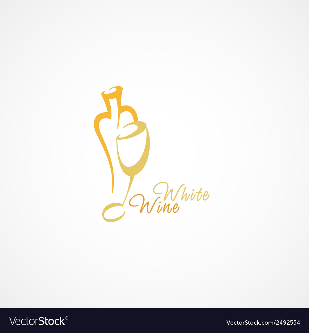 A wine bottle and a glass icon vector image