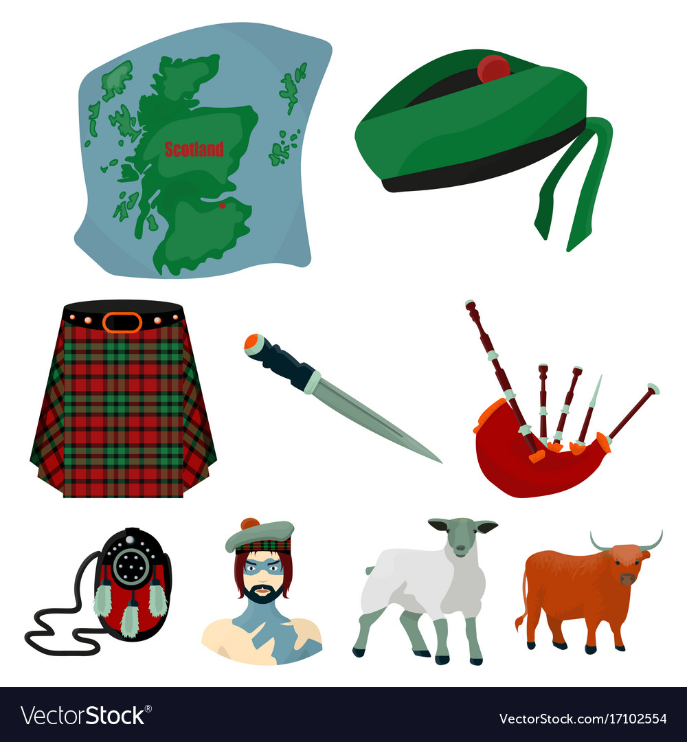 National symbols of scotland scottish attractions vector image buycottarizona Image collections