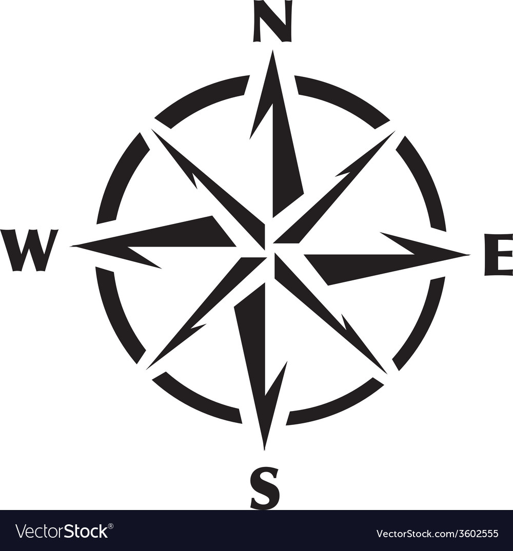 Compass Rose Graphic vector image