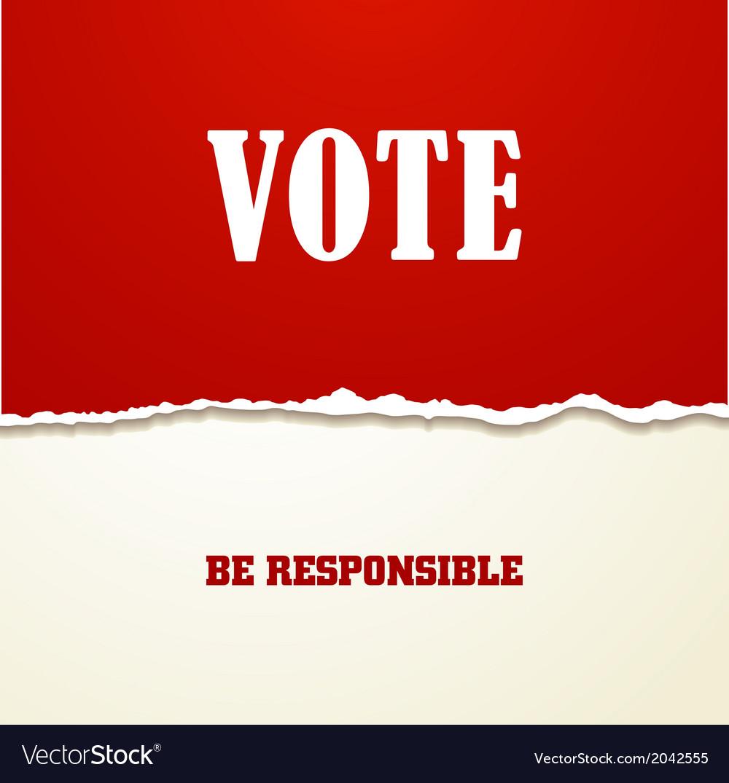 Vote vector image