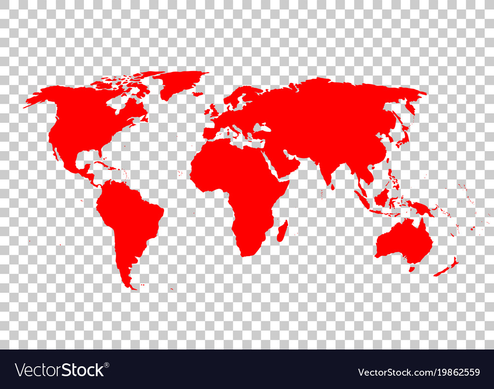 Red world map royalty free vector image vectorstock red world map vector image gumiabroncs Image collections