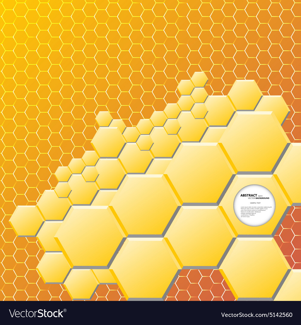 Abstract hexagon background vector image
