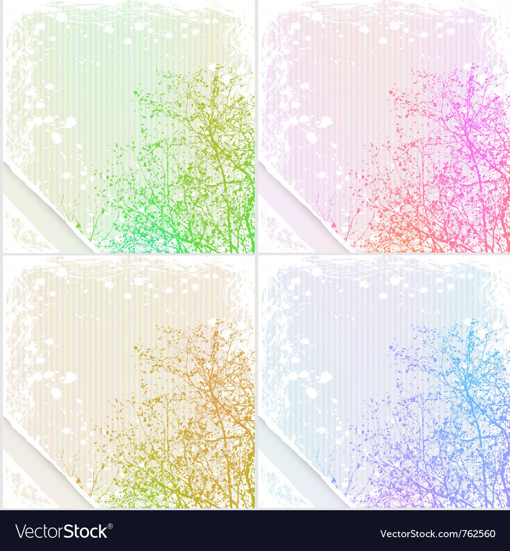 Grunge tree background vector image