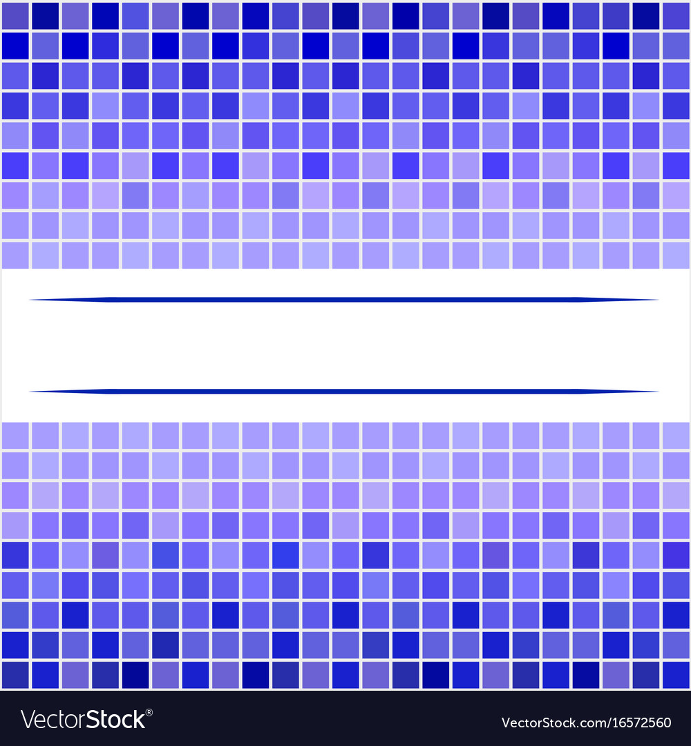 Mosaic abstract geometric patterns vector image
