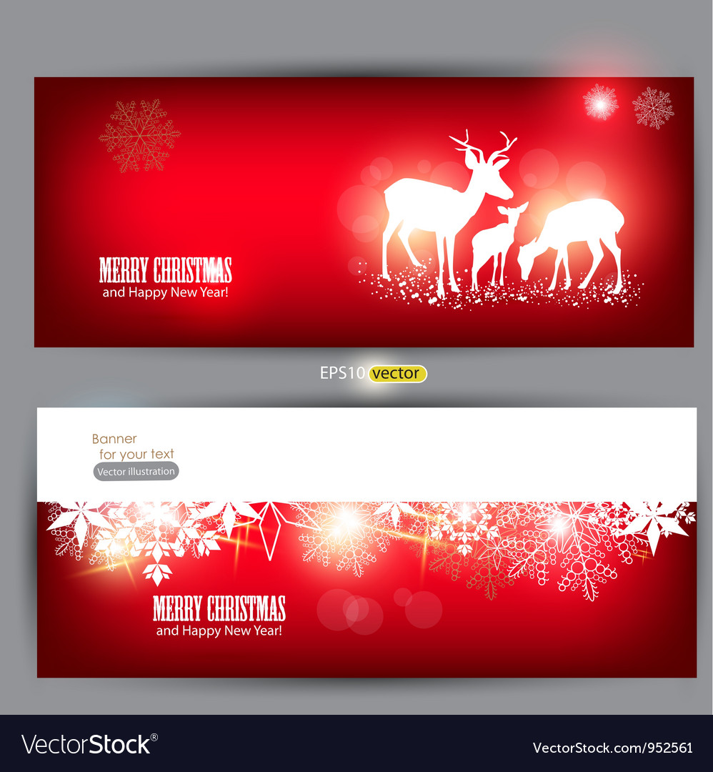 Elegant Christmas banners vector image