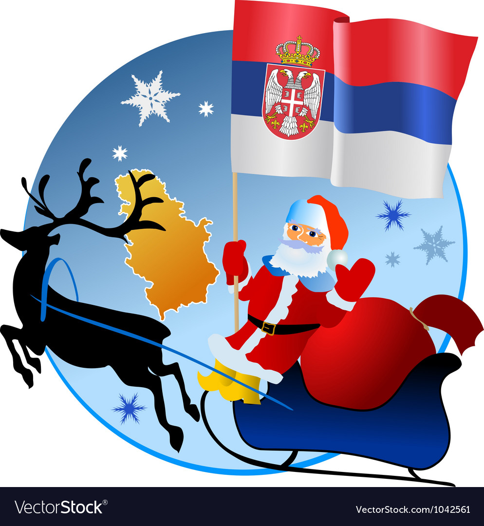 Merry christmas serbia royalty free vector image merry christmas serbia vector image kristyandbryce Images