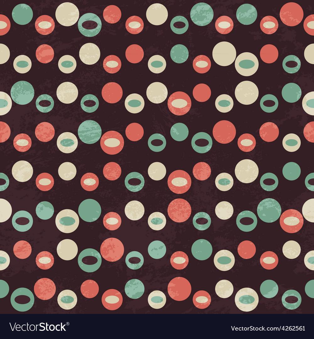 Retro brown circle seamless pattern vector image