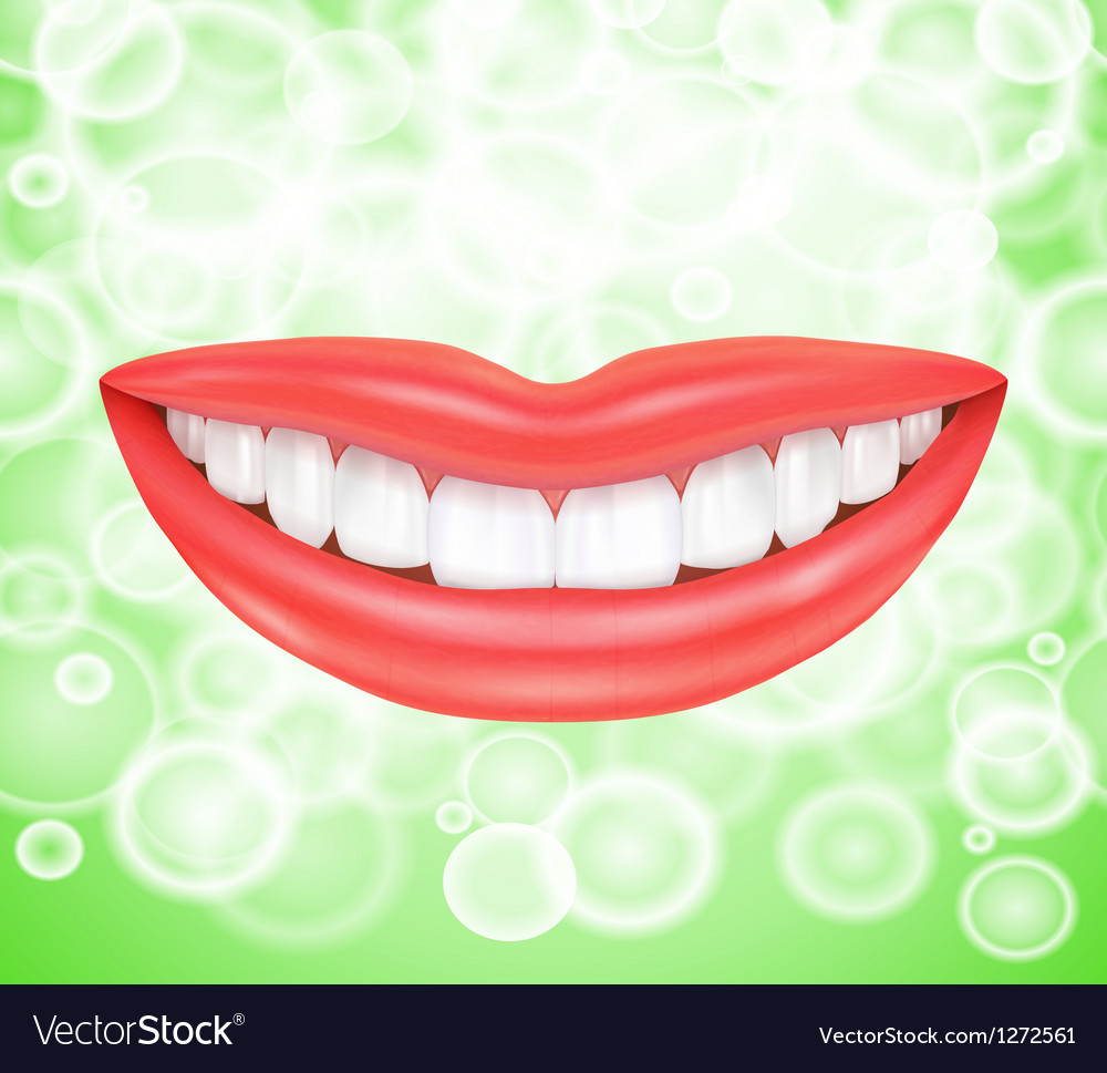 Smile Smiling lips vector image
