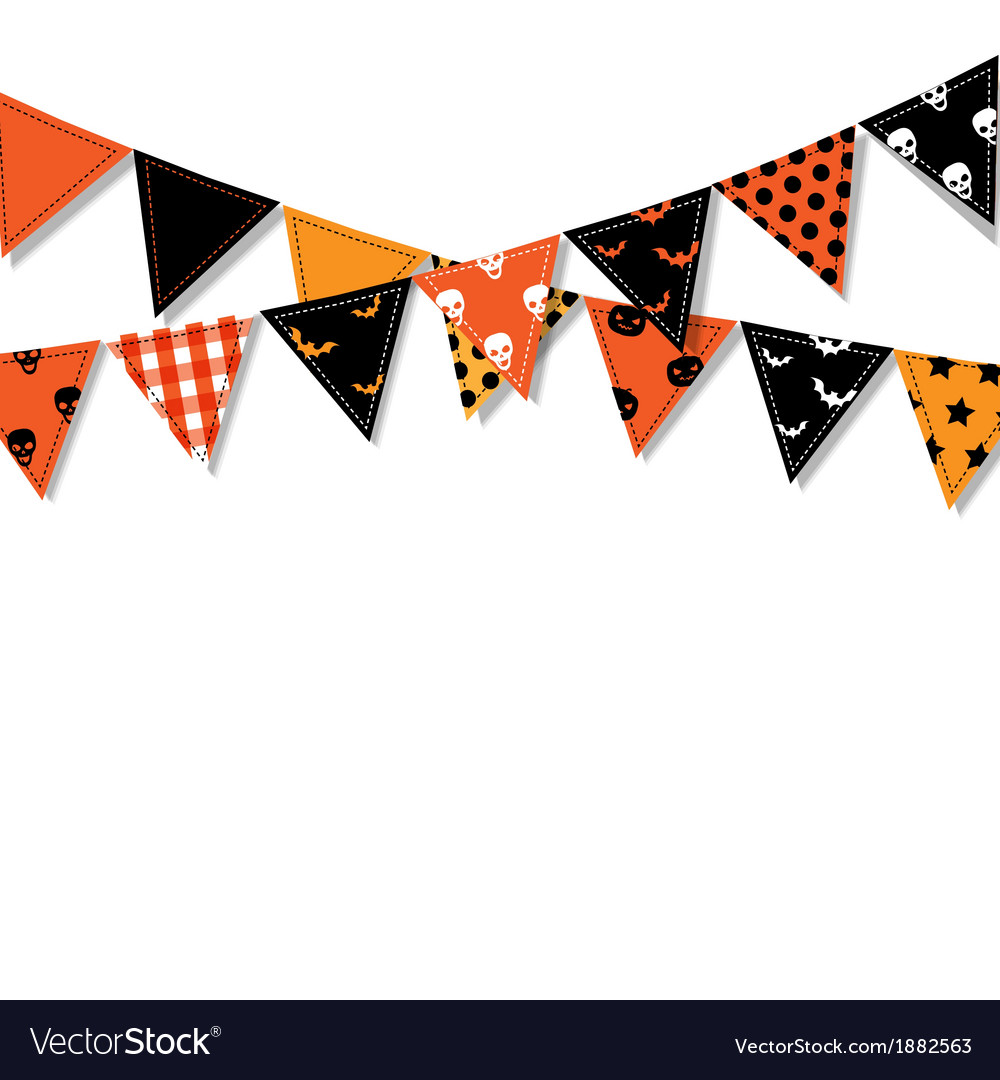 Halloween Bunting Flags vector image