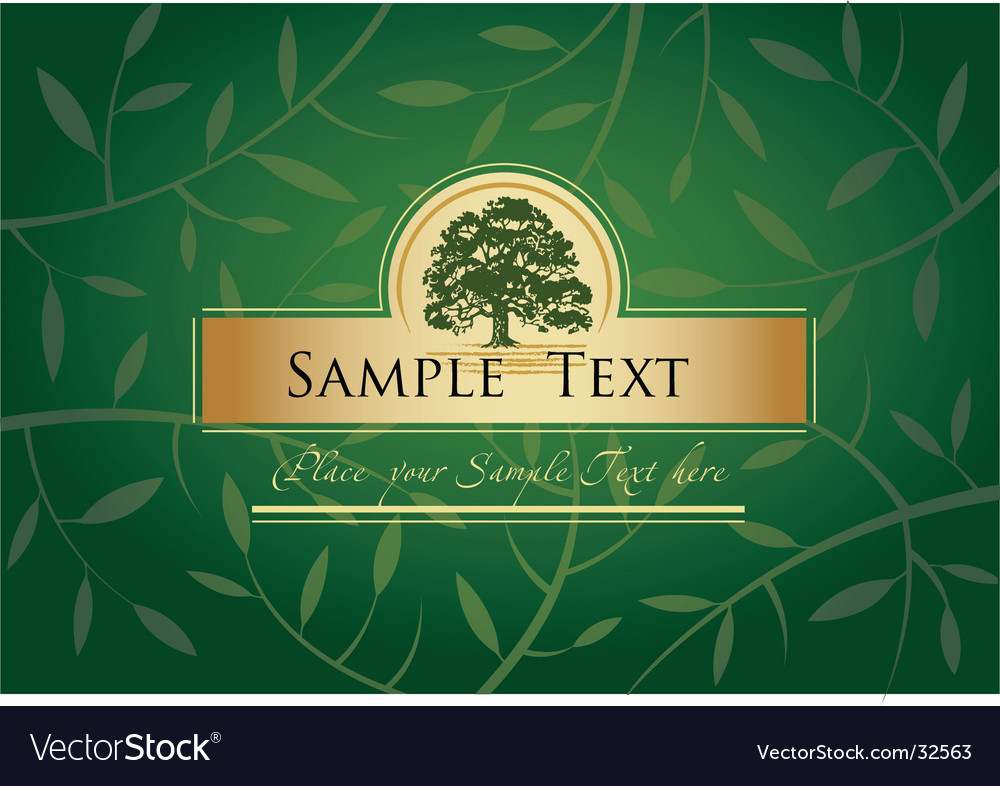 Label or menu cover vector image