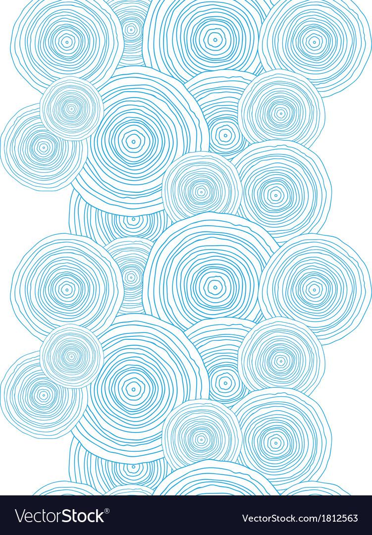 Doodle circle water texture vertical border vector image