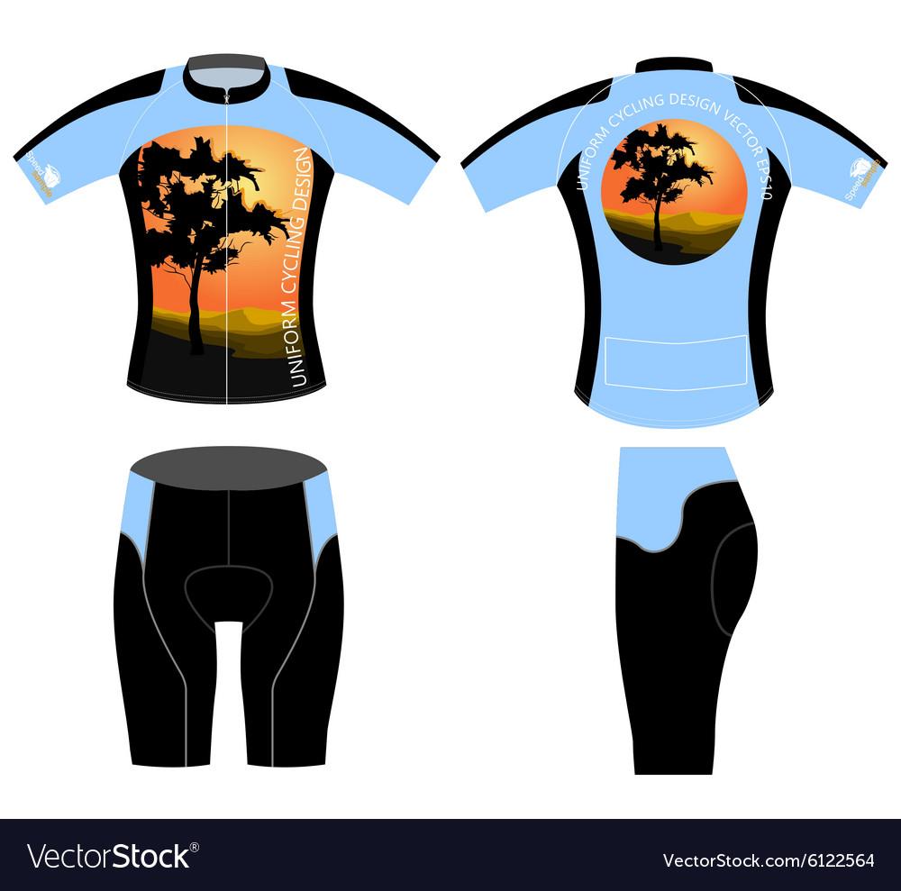 Shirt uniform design vector - Uniform Cycling Design Vector Image