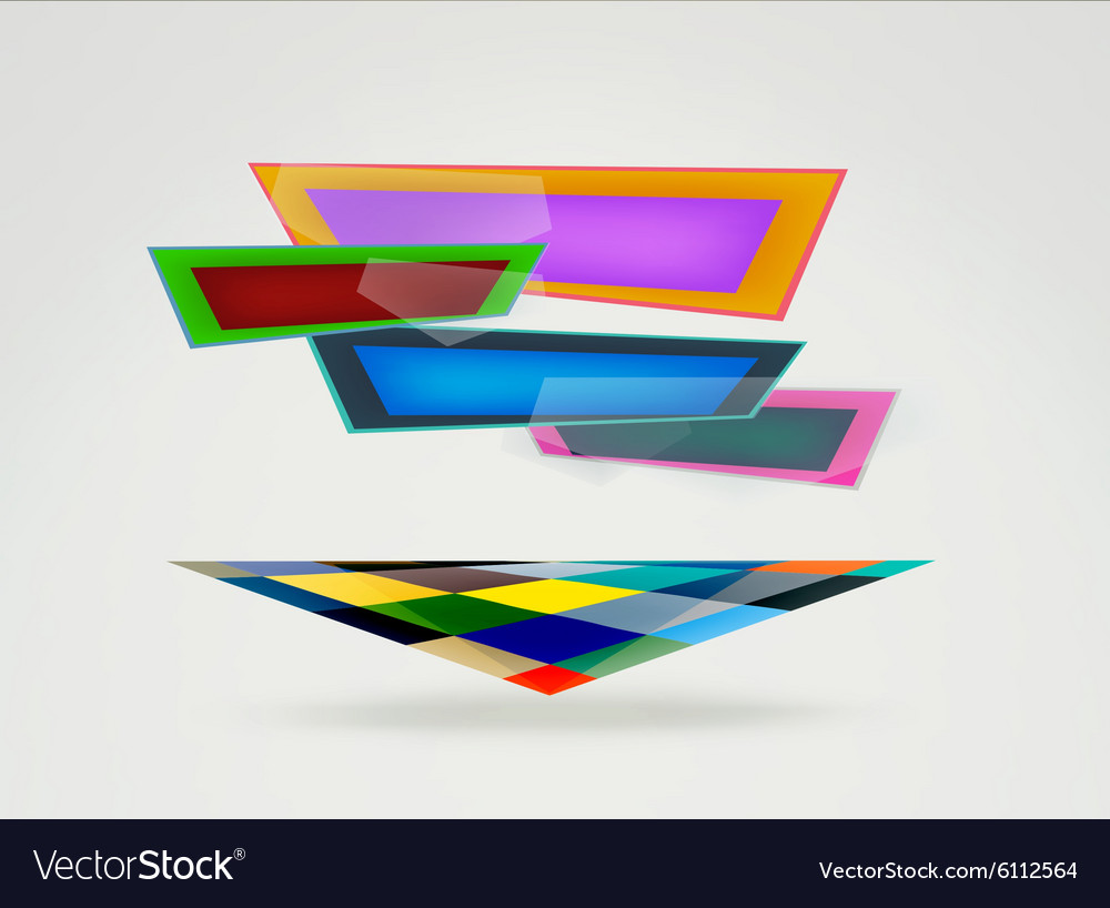 Flat design banners vector image