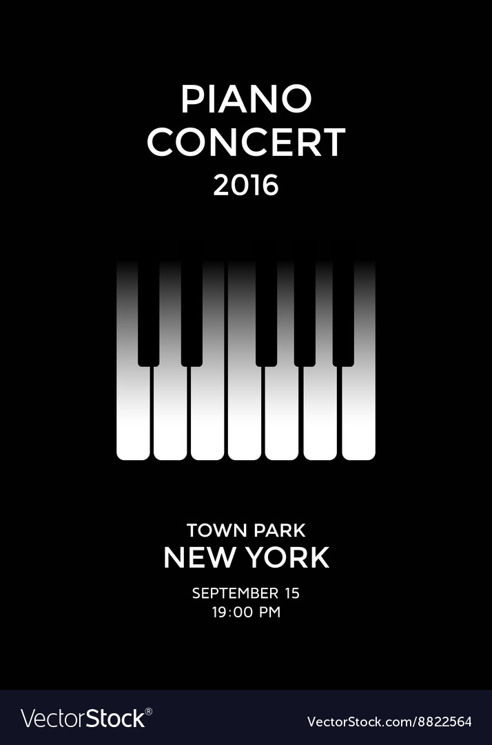 Piano concert poster Royalty Free Vector Image