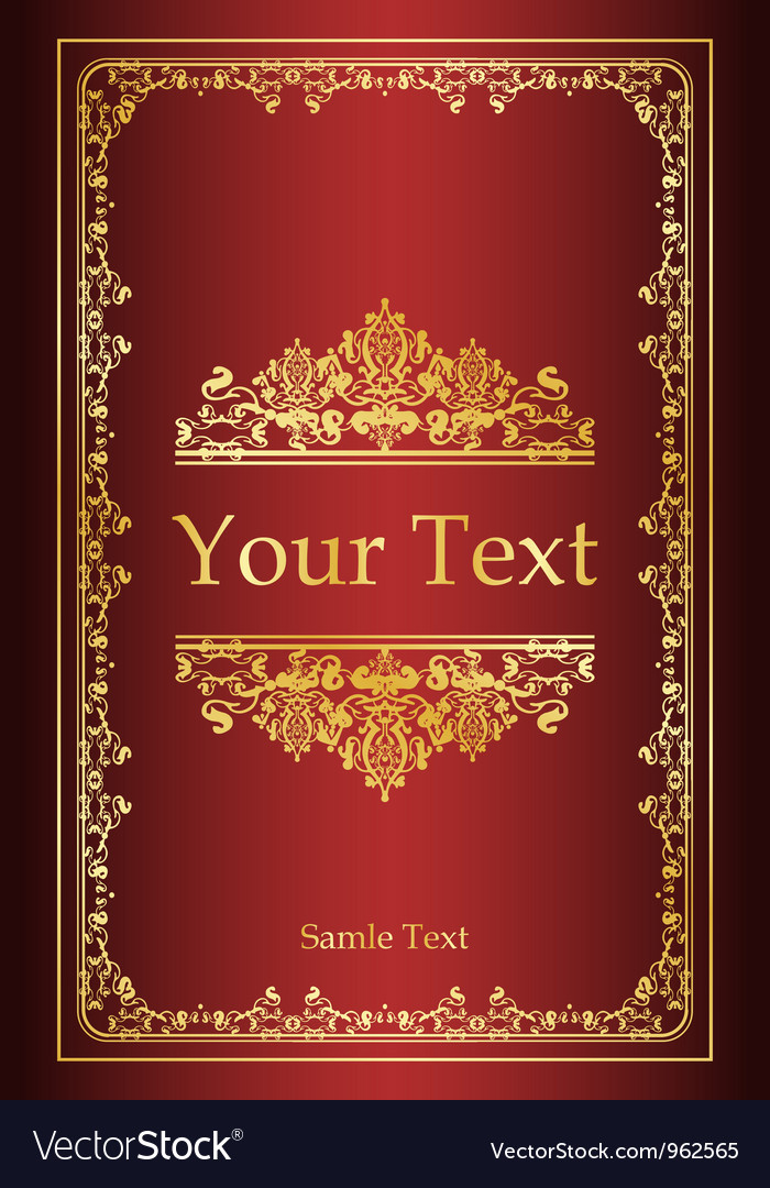 Vintage Book Cover Design Template Free : Book cover vintage background royalty free vector image