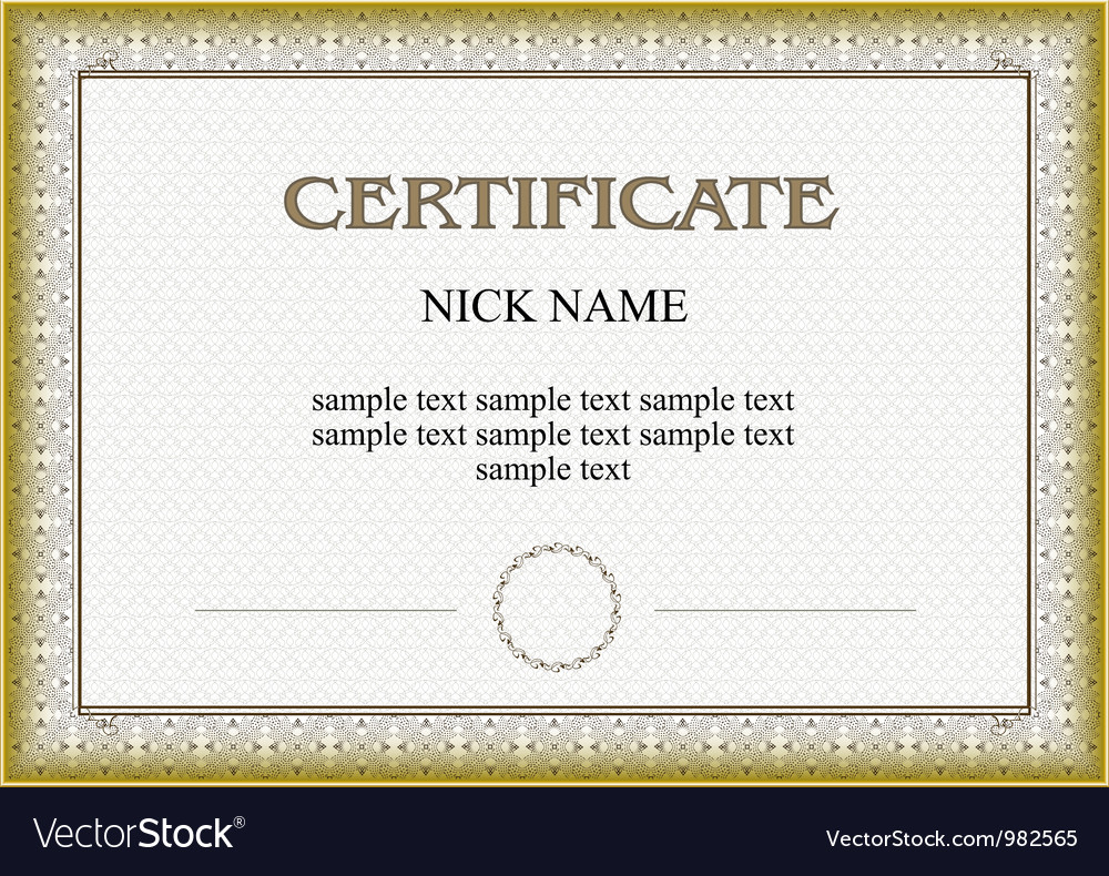Certificate diploma for print royalty free vector image certificate diploma for print vector image yadclub Gallery