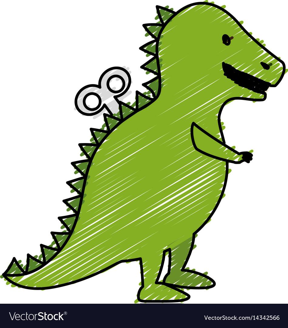 T-rex dinosaur toy icon vector image