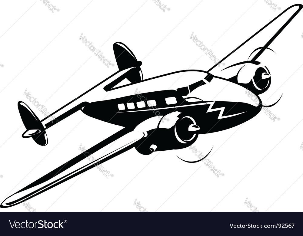 Cartoon retro airplane vector image