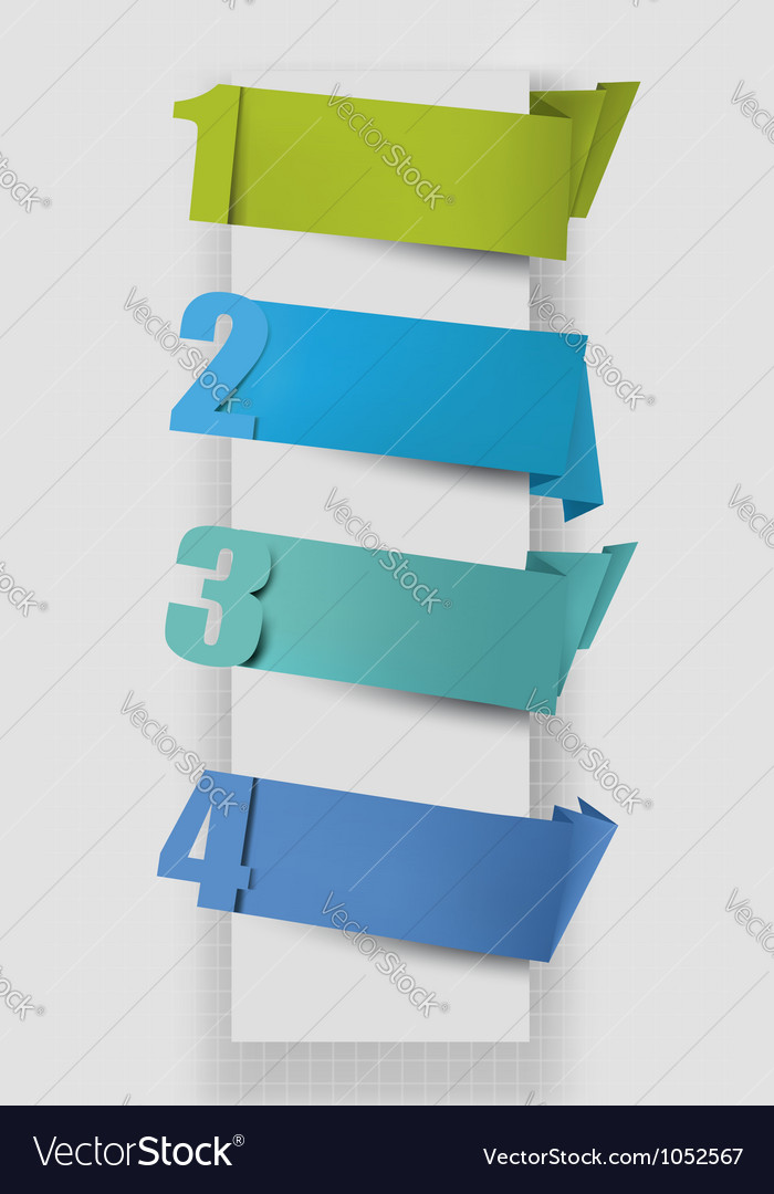Colorful tags with numbers vector image