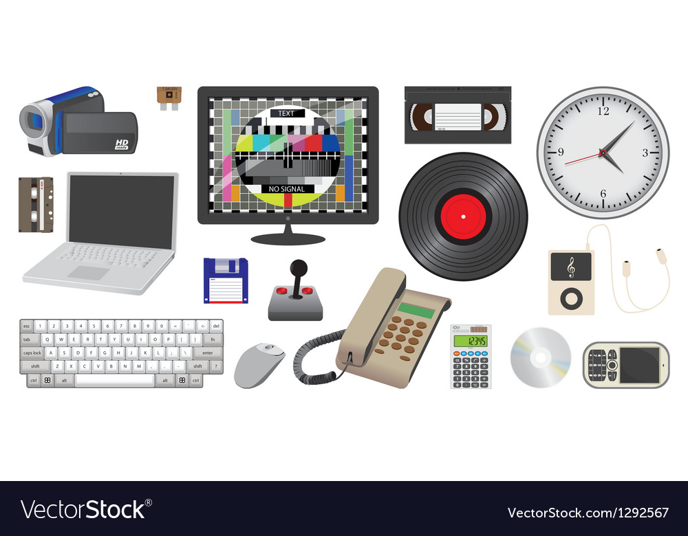 Electronic device and media vector image