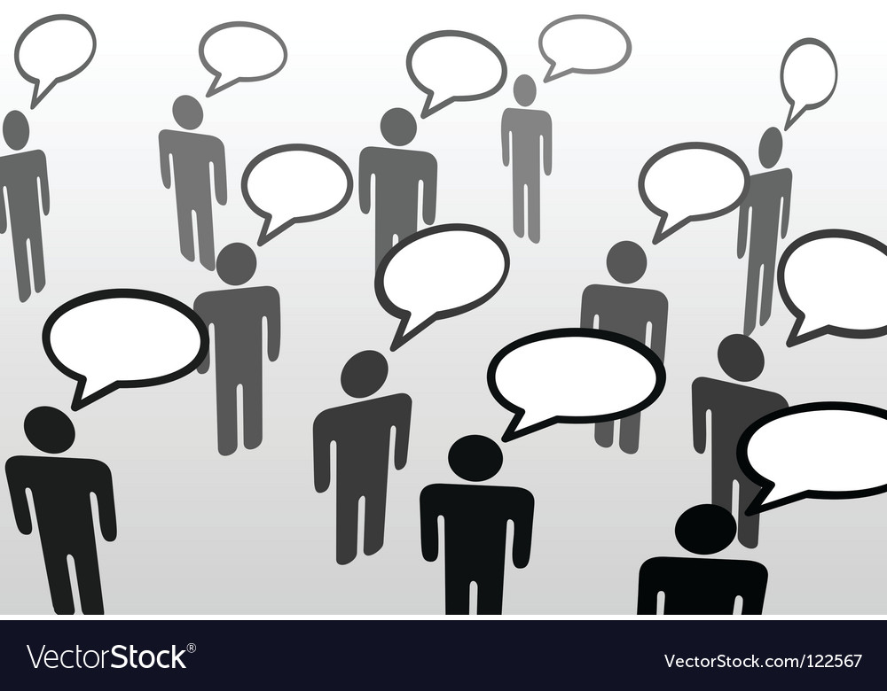 Speech bubble communicatio vector image
