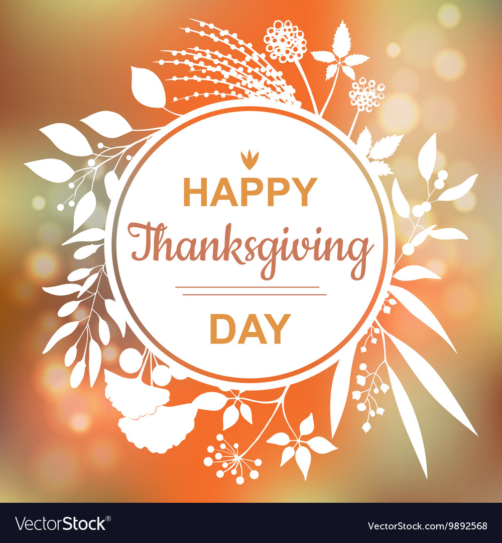 Happy thanksgiving card design royalty free vector image happy thanksgiving card design vector image kristyandbryce Choice Image