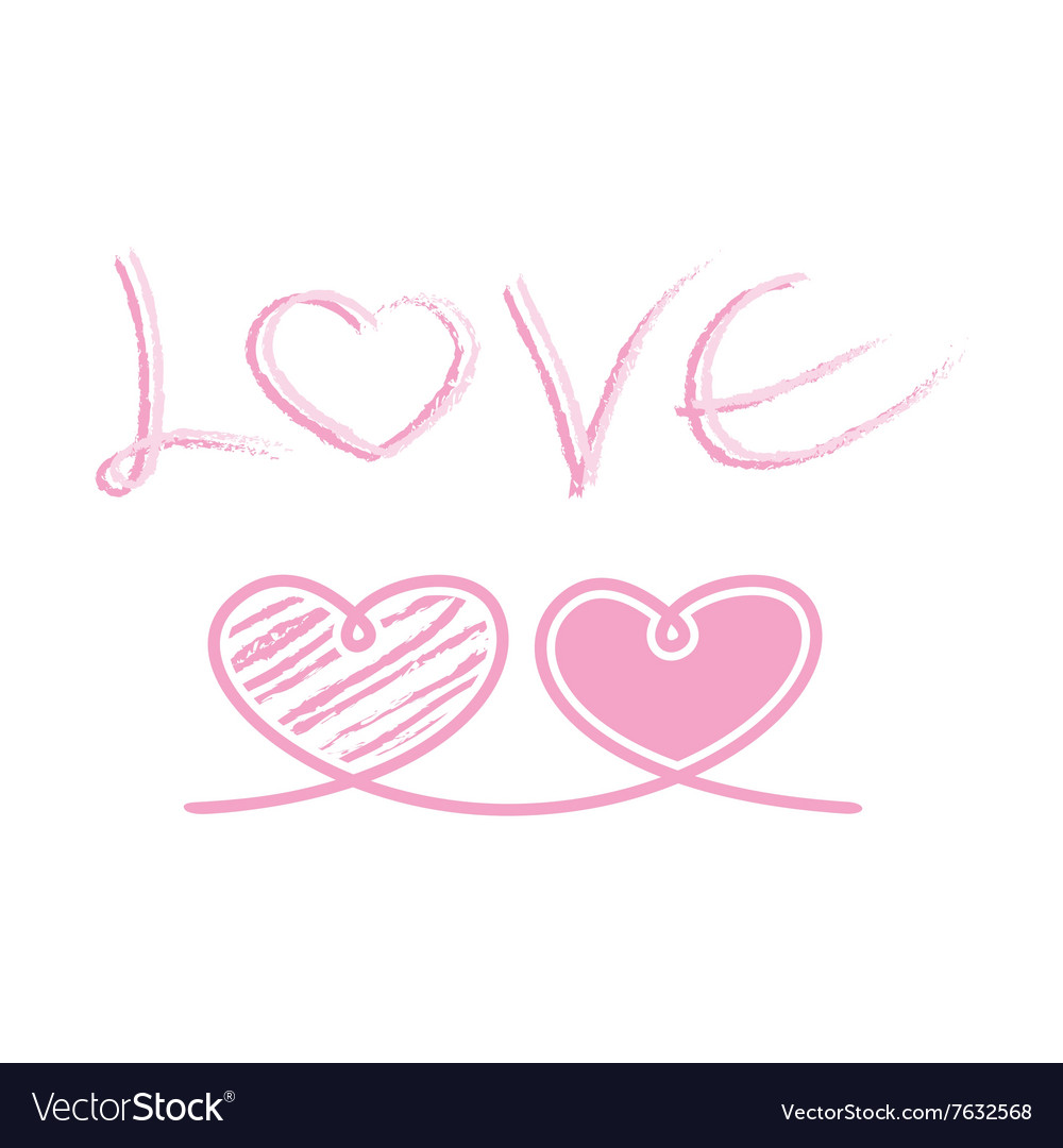 Love heart ribbon rope decor inspiration idea vector image