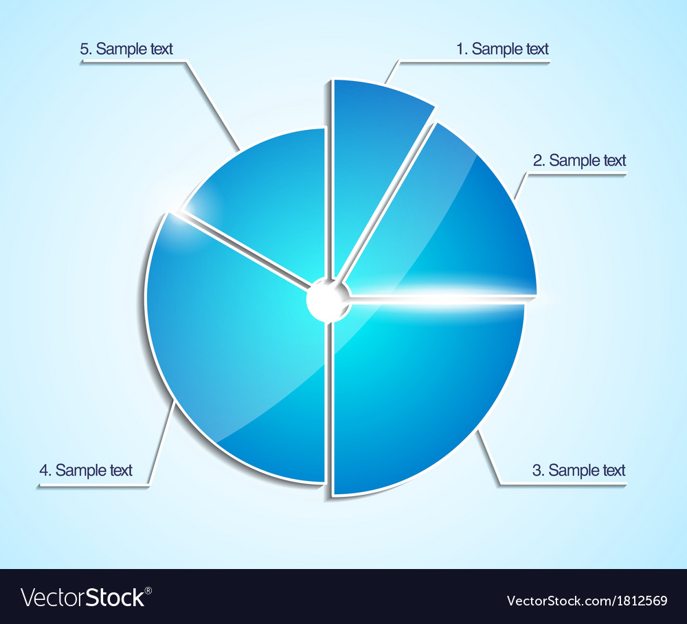 Glossy business pie chart diagram infographic vector image nvjuhfo Choice Image