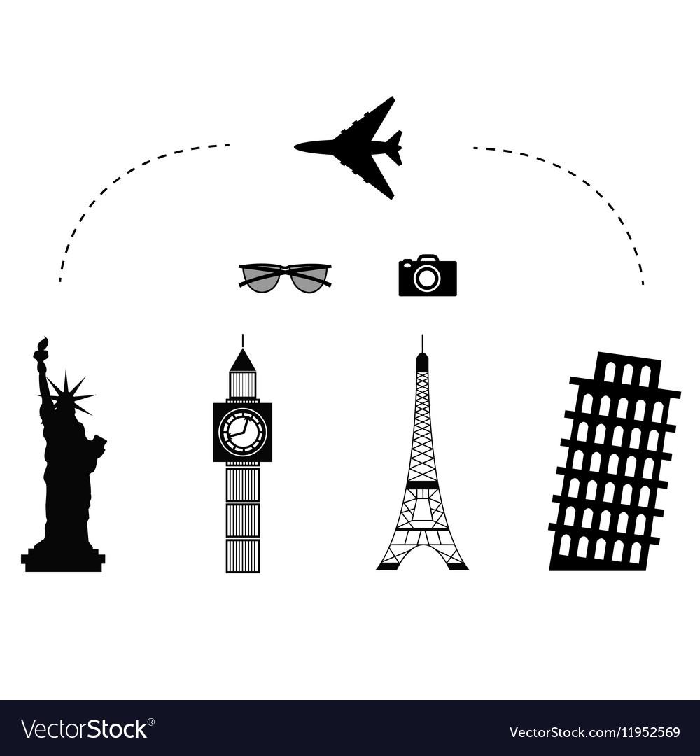 Trawel airplane icon vector image