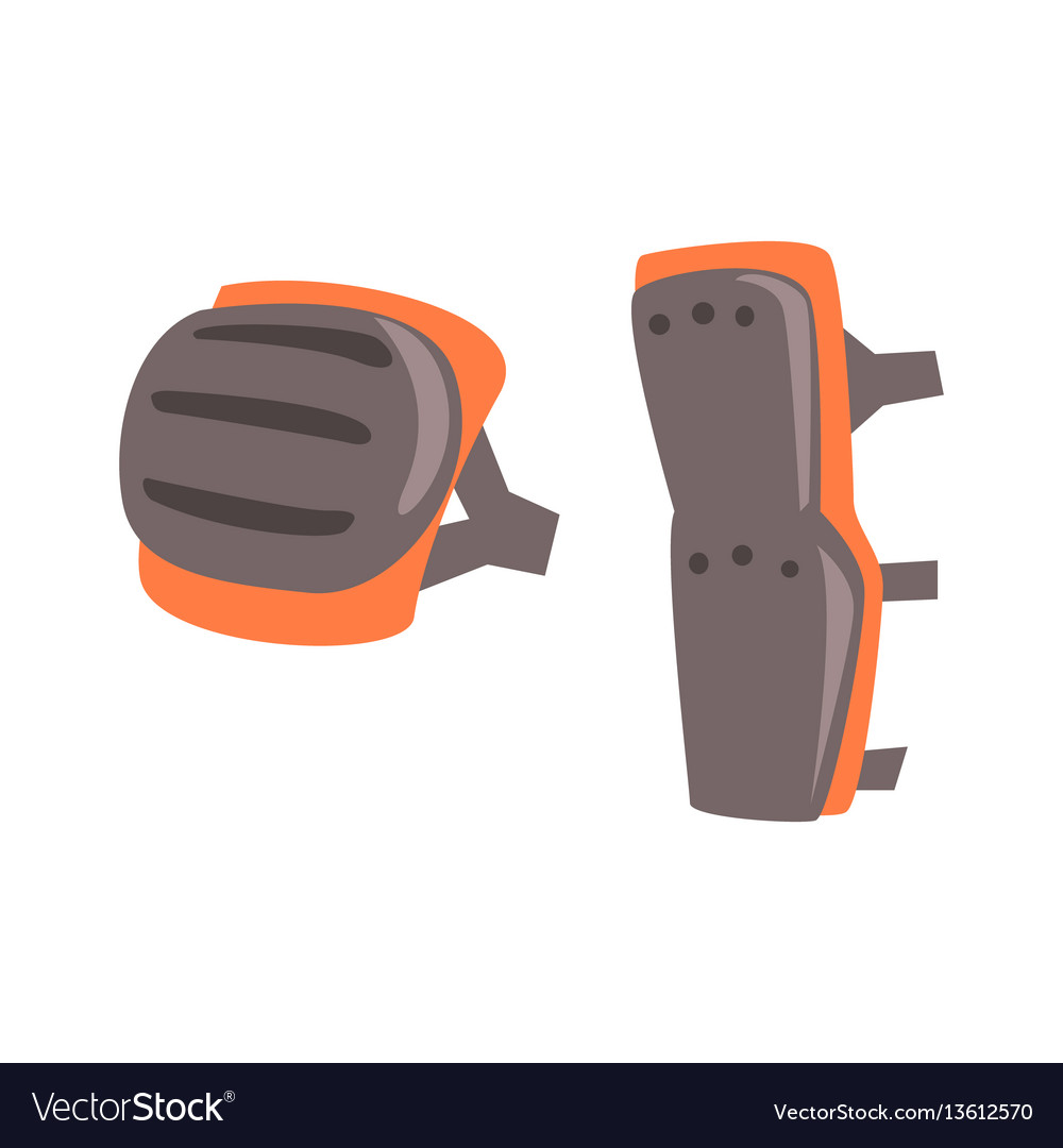 Knee and leg protection shields part of rider vector image