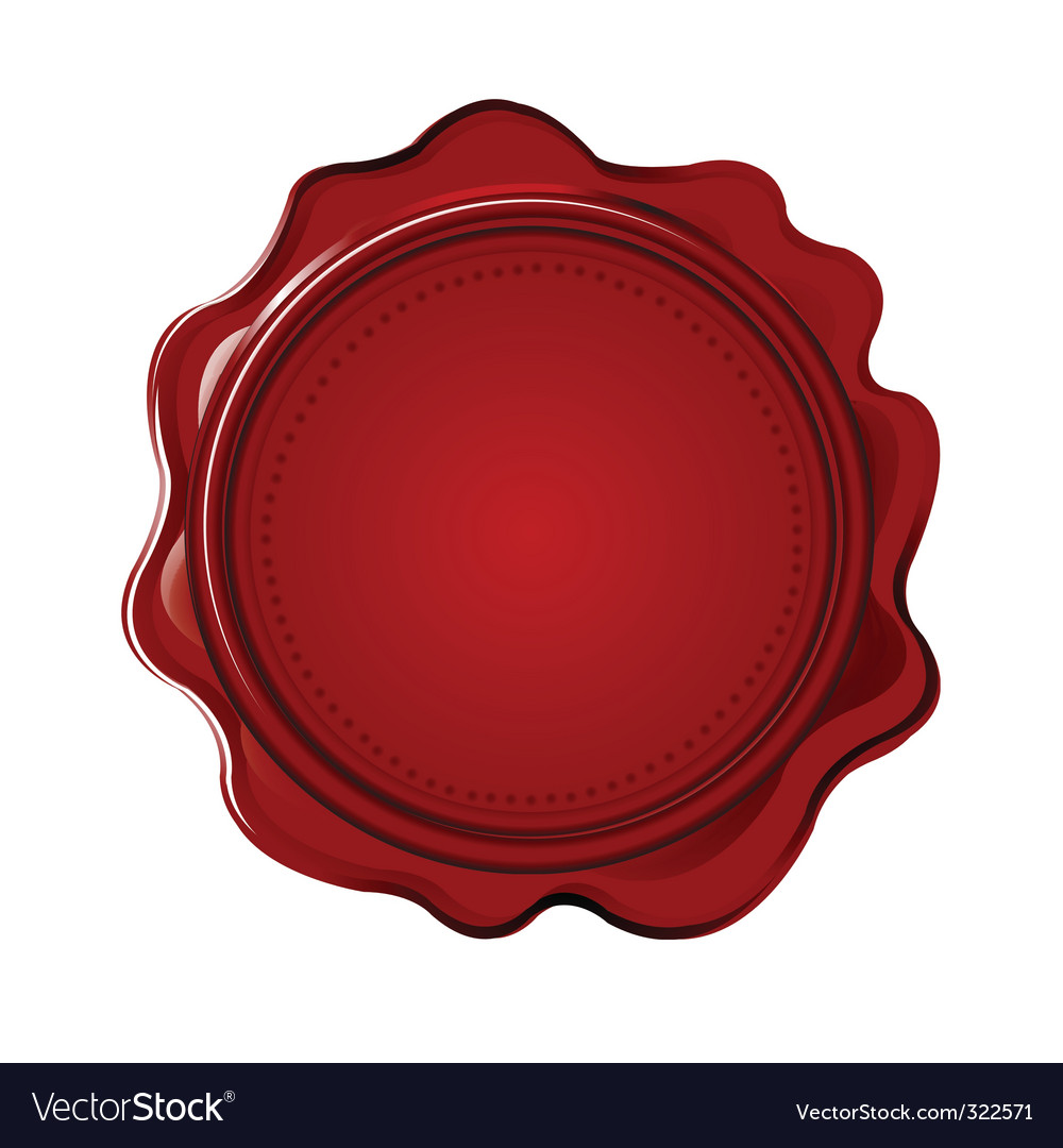 Wax seal with blank field vector image