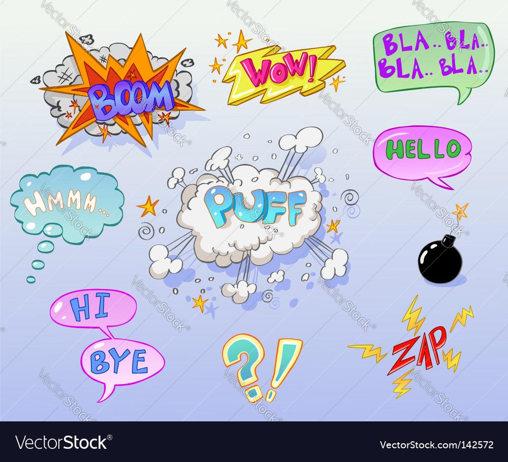 Comics vector image