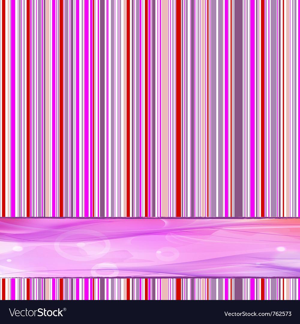 Retro striped vector image