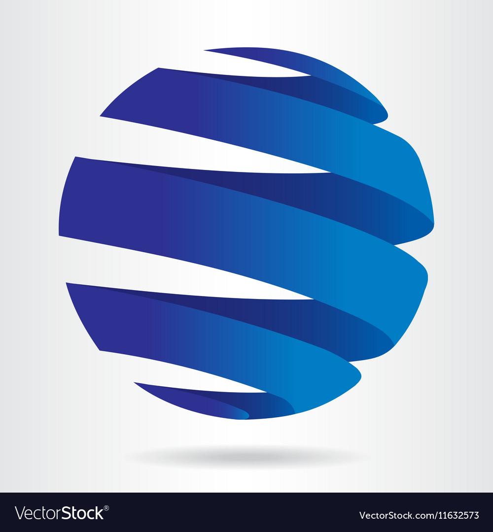 Sfera blue vector image