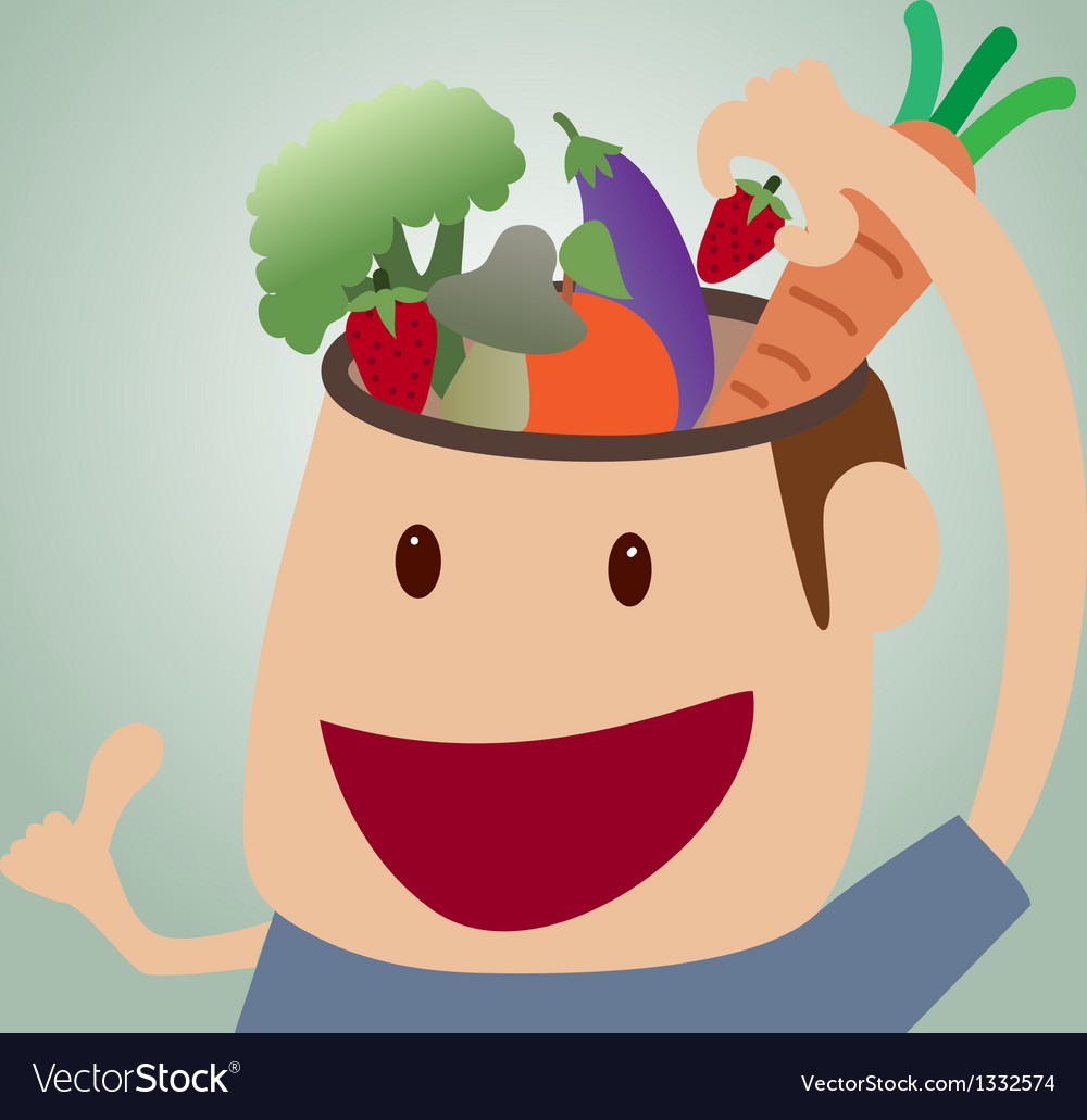 Brains food concept vector image