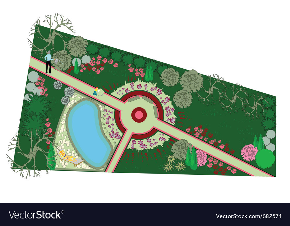 Landscaping vector image