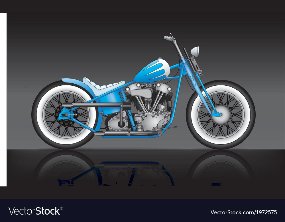Blue custom bobber on black background vector image